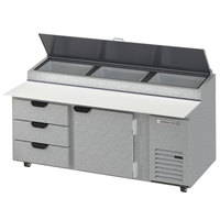 Beverage-Air DPD72HC-3 Hydrocarbon Series 72 inch 3 Drawer Pizza Prep Table