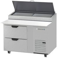 Beverage-Air DPD46HC-2 Hydrocarbon Series 46 inch 2 Drawer Pizza Prep Table