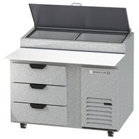 Beverage-Air DPD46HC-3 Hydrocarbon Series 46 inch 3 Drawer Pizza Prep Table