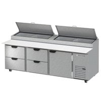 Beverage-Air DPD93HC-4 Hydrocarbon Series 93 inch 4 Drawer Pizza Prep Table