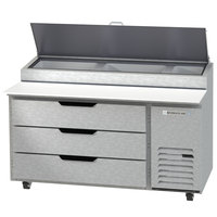 Beverage-Air DPD60HC-3 Hydrocarbon Series 60 inch 3 Drawer Pizza Prep Table