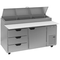 Beverage-Air DPD67HC-3 67 inch 3 Drawer Pizza Prep Table