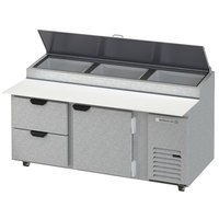 Beverage-Air DPD72HC-2 Hydrocarbon Series 72 inch 2 Drawer Pizza Prep Table