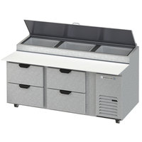 Beverage-Air DPD72HC-4 Hydrocarbon Series 72 inch 4 Drawer Pizza Prep Table
