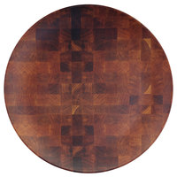 Elite Global Solutions ECO1111R-CK Checkered 11 inch Round Bamboo / Melamine Plate - 6/Case