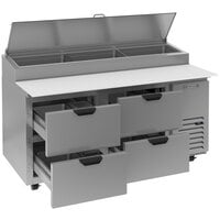 Beverage-Air DPD67HC-4 67 inch 4 Drawer Pizza Prep Table