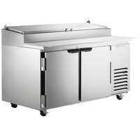 Beverage-Air DP60HC 60 inch 2 Door Refrigerated Pizza Prep Table