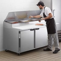 Beverage-Air DP72HC 72 inch 2 Door Refrigerated Pizza Prep Table