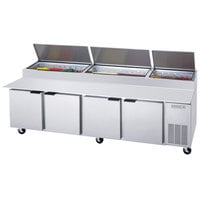 Beverage-Air DP119HC 119 inch 4 Door Refrigerated Pizza Prep Table