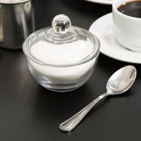Anchor Hocking 64192B 8 oz. Glass Sugar Bowl with Lid - 4/Case