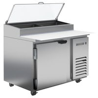Beverage-Air DP46HC-CL 46 inch 1 Door Clear Lid Refrigerated Pizza Prep Table