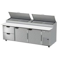 Beverage-Air DPD93HC-9 93 inch 9 Drawer Refrigerated Pizza Prep Table