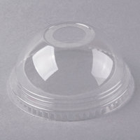 Fabri-Kal DLKC16/24 Kal-Clear / Nexclear 12 / 14, 16 / 18, 20, and 24 oz. Clear Plastic Dome Lid with 1 inch Hole - 100/Pack