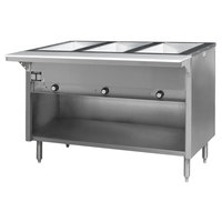 Eagle Group HT3OB-240-3 Spec Master Series Three Pan Open Well Electric Hot Food Table with Open Front - 240V, 3 Phase