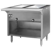Eagle Group HT2OB-240-3 Spec Master Series Two Pan Open Well Electric Hot Food Table with Open Front - 240V, 3 Phase