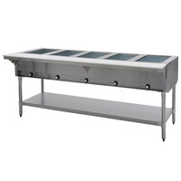 Eagle Group DHT5-240-3 Five Pan Open Well Electric Hot Food Table with Galvanized Base - 240V, 3 Phase