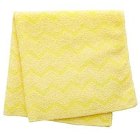 Rubbermaid FGQ61000YL00 HYGEN 16 inch x 16 inch Yellow Microfiber Cloth - 12/Pack