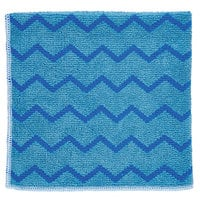 Rubbermaid FGQ62000BL00 HYGEN 16 inch x 16 inch Blue Microfiber Cloth - 12/Pack