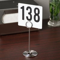 American Metalcraft NSC6 6 inch Chrome Swirl Base Card Holder