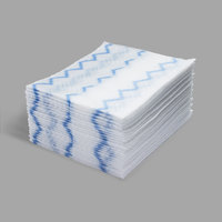 Rubbermaid 1928024 HYGEN 8 inch x 10 inch White Disposable Microfiber Cloth Refill - 960/Case