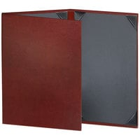 H. Risch Inc. TAM-3V Tamarac 5 1/2 inch x 8 1/2 inch Customizable 3 View Menu Cover