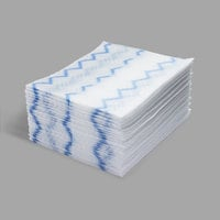 Rubbermaid 1928023 HYGEN 8 inch x 10 inch White Disposable Microfiber Cloth Refill - 640/Case