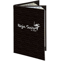 Menu Solutions 840A Slim Line 5 1/2 inch x 8 1/2 inch Customizable Triple Panel 4 View Booklet Menu Cover
