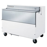 Beverage-Air SMF58HC-1-W-02 58 inch White 1-Sided Forced Air Milk Cooler with Stainless Steel Interior