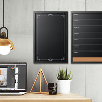 MasterVision PM0331168 16 inch x 24 inch Decorative Wall-Mount Chalkboard with Black MDF Frame