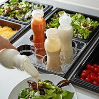 GET SDB-32-PC-6-CL 32 oz. Polycarbonate Clear Salad Dressing / Juice Bottle and Lid Set