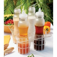 GET SDB-32-PC-B 32 oz. Polycarbonate Frosted Salad Dressing / Juice Bottle