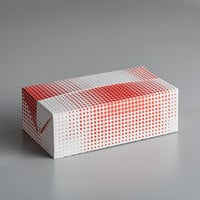 Customizable 9 inch x 5 inch x 3 inch Red Plaid / Dot Take-Out Lunch / Chicken Box with Fast Top - 250/Case