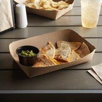 Customizable 8 5/8 inch x 5 1/2 inch x 2 inch Kraft Carry Lunch Tray - 500/Case