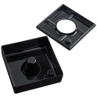 Tablecraft WPA5BK 4 1/2 inch Square Black Melamine Windproof Ashtray - 12/Pack