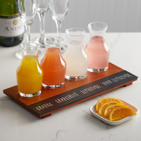 Acopa Chalkboard Tray with (4) 6 oz. Carafes