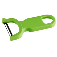 Mercer Culinary M33071GRB 4 inch Green Y Vegetable Peeler with Straight S High Carbon Steel Blade