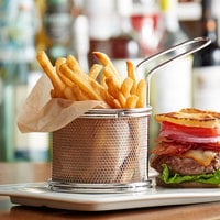 Choice 3 inch Stainless Steel Round Mini Fry Basket