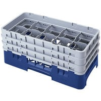 Cambro 10HS638186 Navy Blue Camrack 10 Compartment 6 7/8 inch Half Size Glass Rack