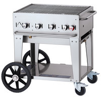 Crown Verity CV-MCB-30RDP-NG Natural Gas 30 inch Mobile Outdoor Grill with Roll Dome Package