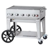 Crown Verity CV-MCB-36RDP Liquid Propane 36 inch Mobile Outdoor Grill with Roll Dome Package