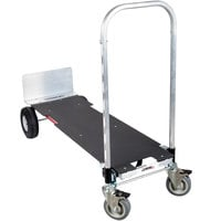 Magliner XLAP Gemini XL 2-in-1 500 lb. Convertible Hand Truck with 10 inch Pneumatic Wheels and U-Loop Handle - Assembled