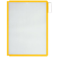 Durable 566604 Yellow Letter Sized Panels for SHERPA and VARIO Reference Systems - 5/Pack