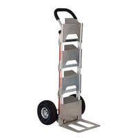 Magliner B4K128HM4 500 lb. 4-Bottle Water Hand Truck with 10 inch Pneumatic Wheels and U-Loop Handle