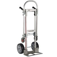 Magliner GMK16UAE Gemini Jr. 2-in-1 500 lb. Convertible Hand Truck with 10 inch Interlocked Microcellular Foam Wheels and Dual Handles
