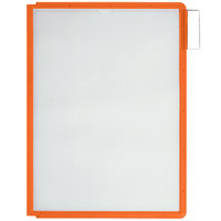 Durable 566609 Orange Letter Sized Panels for SHERPA and VARIO Reference Systems - 5/Pack