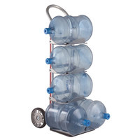 Magliner HBK111HM1 500 lb. 5-Bottle Water Hand Truck with 8 inch Mold-On Rubber Wheels and U-Loop Handle
