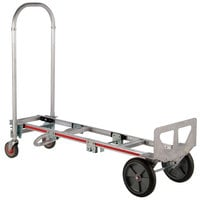Magliner GMK81UAB Gemini Sr. 2-in-1 500 lb. Convertible Hand Truck with 10 inch Balloon Cushion Wheels and U-Loop Handle