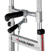 Magliner NPK13CG2C5 500 lb. Y-Cable Brake Hand Truck with 10 inch Microcellular Foam Wheels, 60 inch Single Grip Handle, and Stairclimbers