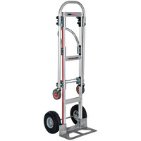 Magliner GMK81UA4 Gemini Sr. 2-in-1 500 lb. Convertible Hand Truck with 10 inch Pneumatic Wheels and U-Loop Handle