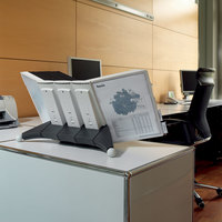 Durable 569810 SHERPA Gray Borders Letter Sized 10 Panel Desktop Reference System Extension Set